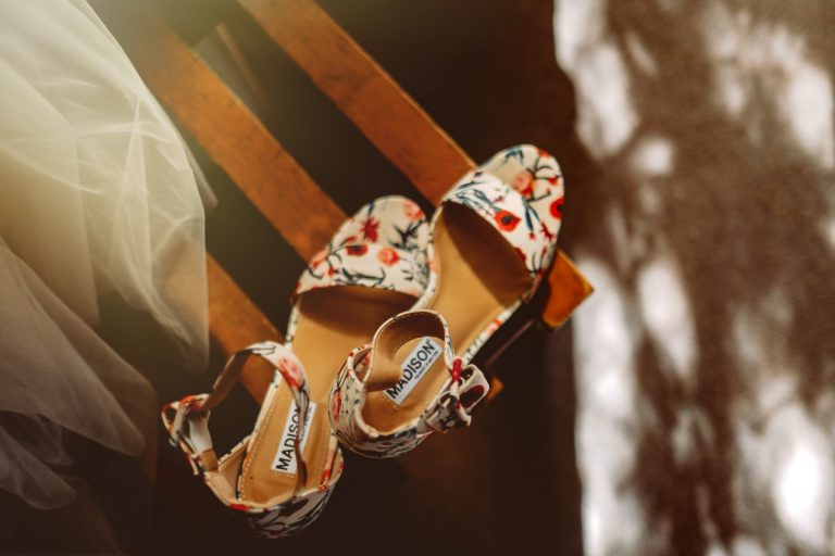 the bride's beautiufl madison wedding shoes