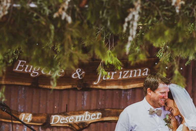 A Karoo Wedding with an intimate moment shared between the newly weds during their ceremony