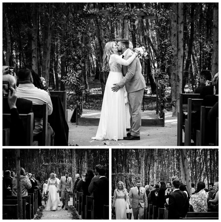 the new husband and wife kiss for the first time