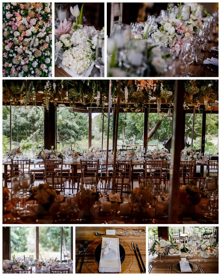 the gorgeous wedding flower arrangements for the wedding reception