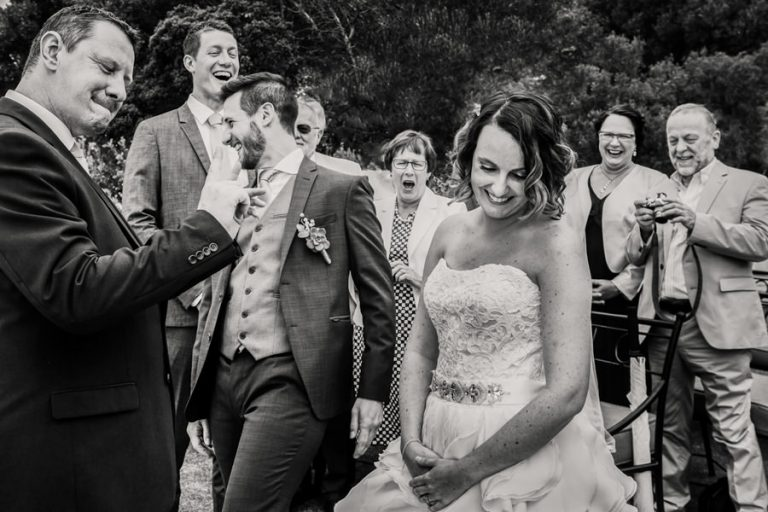 the comical moment during the wedding ceremony
