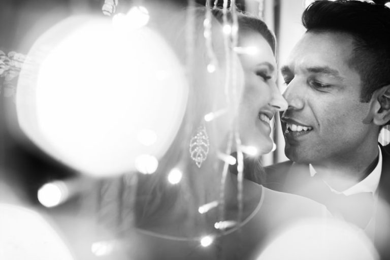 making use of the fairy lights at Belair Wedding venue for this couple portrait