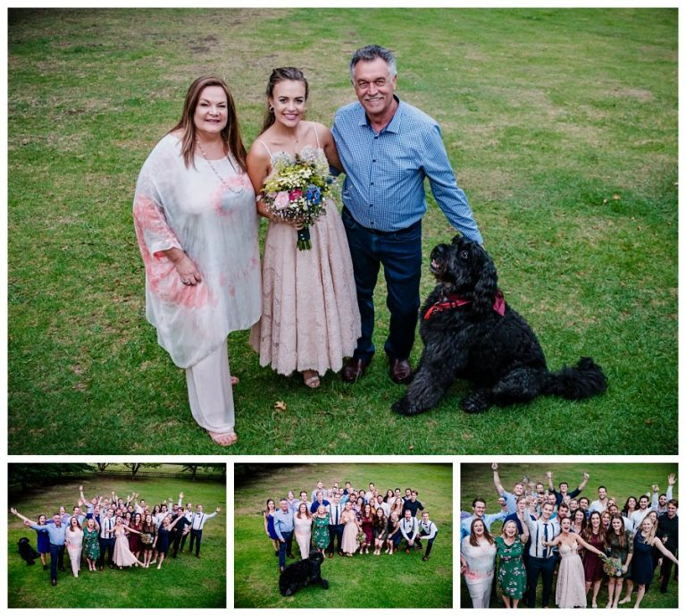 wedding portraits with the family dogs