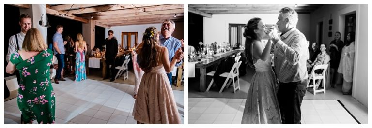 bride and father dance on this farm wedding