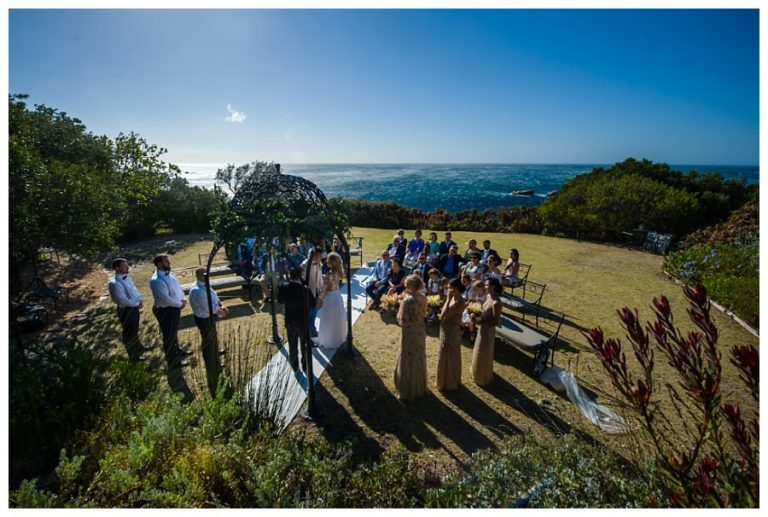 the beautiful ocean view for the ceremony at a Wedding at Twelve Apostles hotel