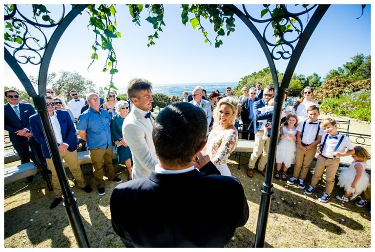 The stunning ceremony location for a Wedding at Twelve Apostles hotel
