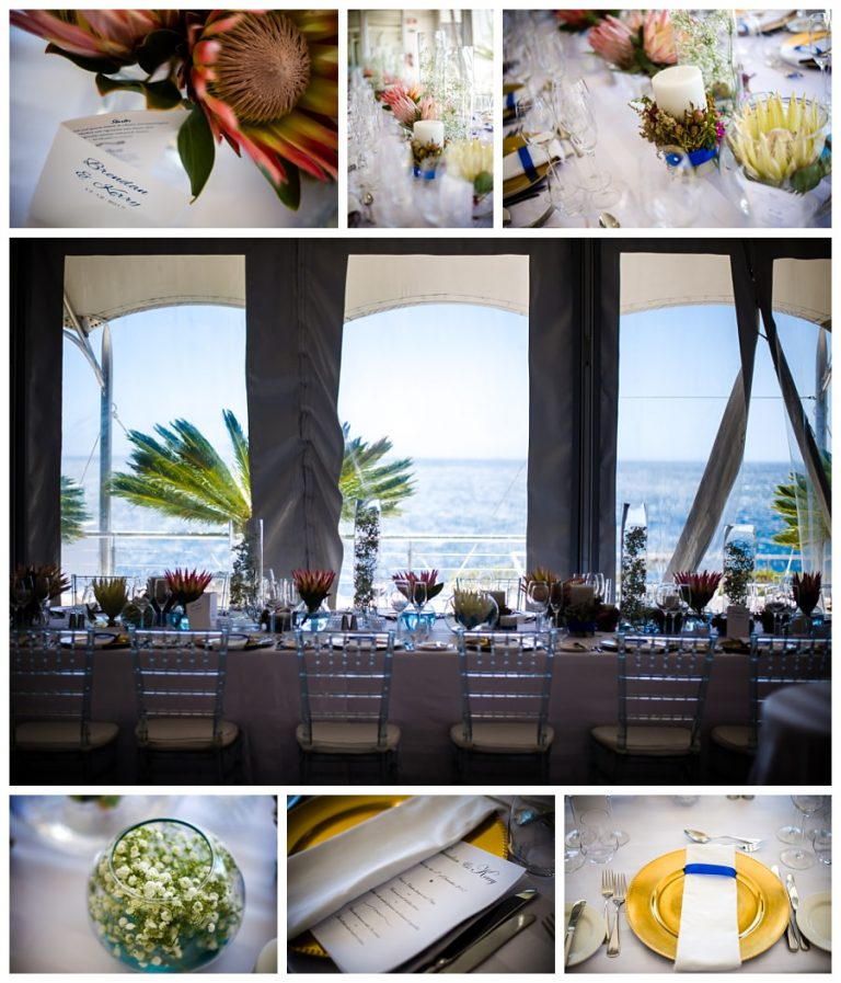 The beautiful protea table flower center pieces