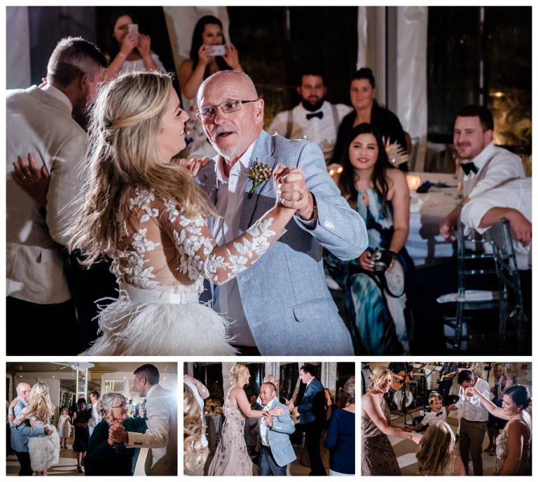 The bride and her father dance