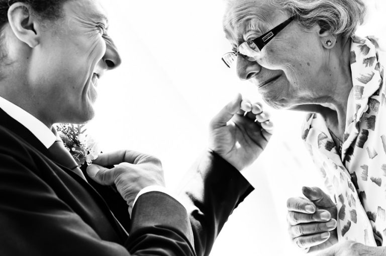 Beautiful Wedding Photos by Christelle Rall like this one of the groom and his grandma sharing a beautiful intimate moment.