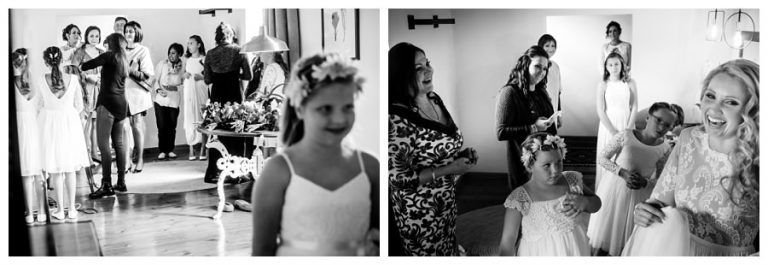 the bride and her bridal party preparations