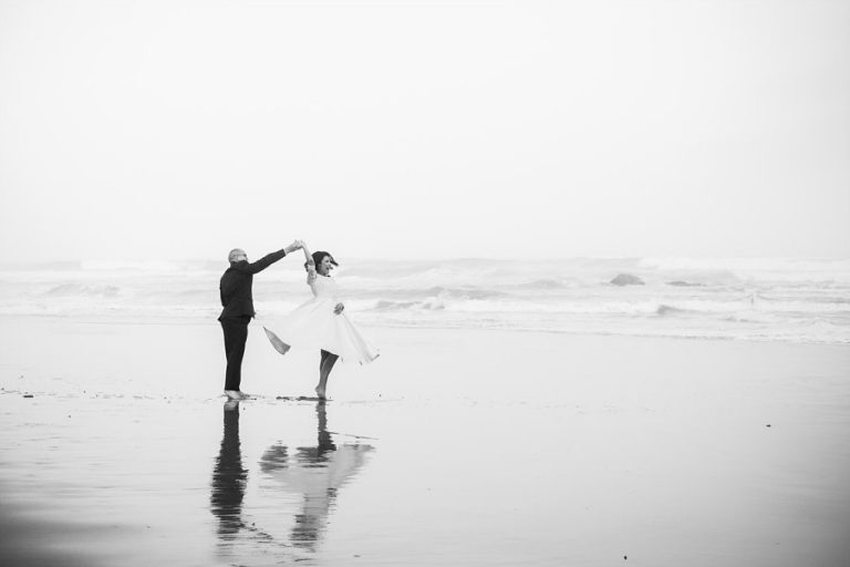 Intimate Wilderness Wedding like this dance photo on the beach by the newlyweds