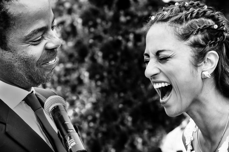 a funny moment during the ceremony during the vows
