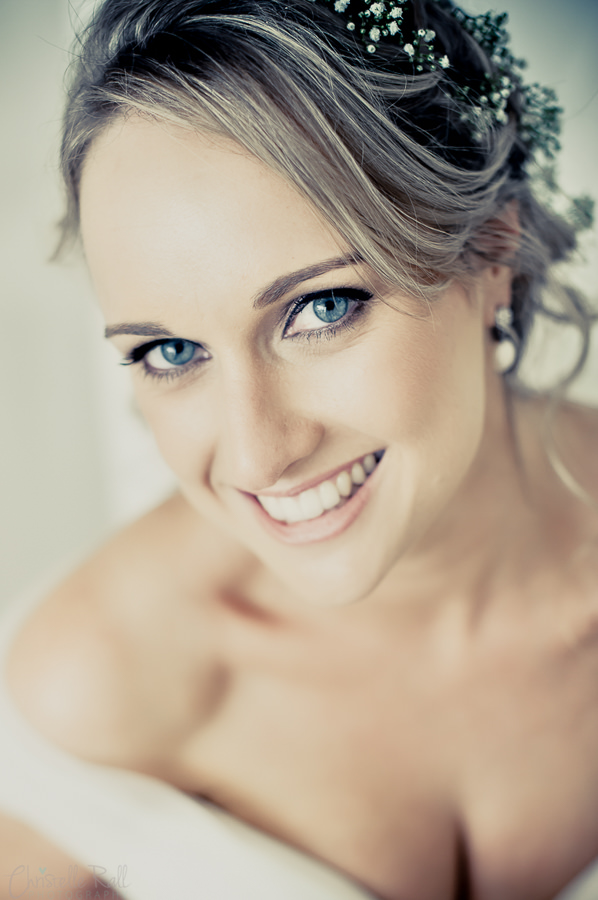 a beautiful portrait of a bride