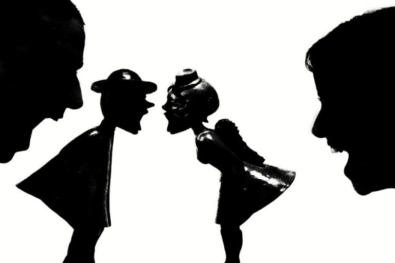 a funny silhouette photo using art