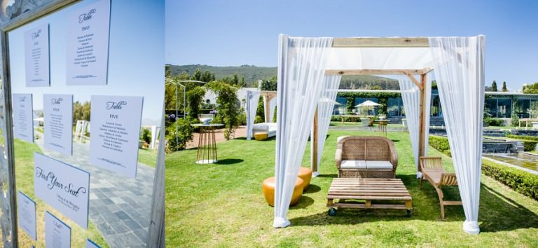 the beautiful outside area at the Wedding venue, Belair in paarl