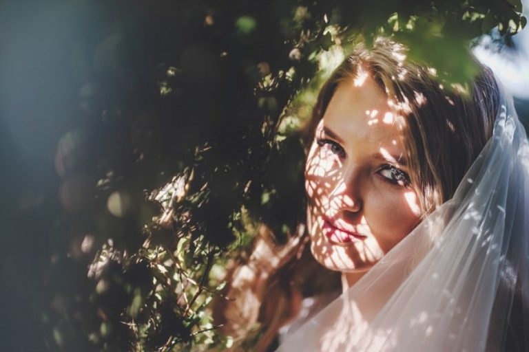 Wedding photos at Belair venue like this artistic bridal portrait