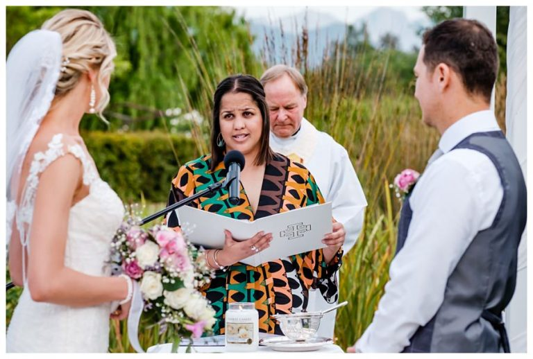 a bridal reading during the ceremony