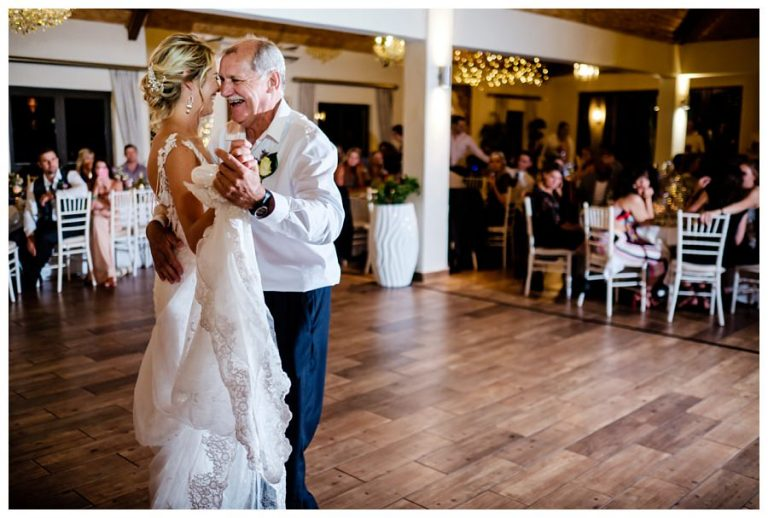 the bride and her father opening the dance floor