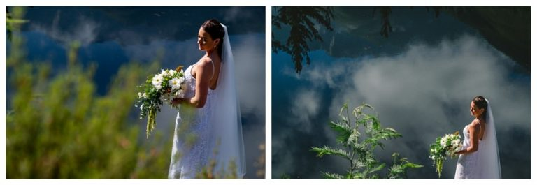 bride portraits in beautiful nature setting