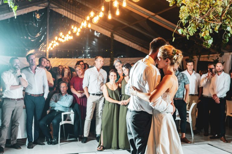 an emotional moment during the first dance