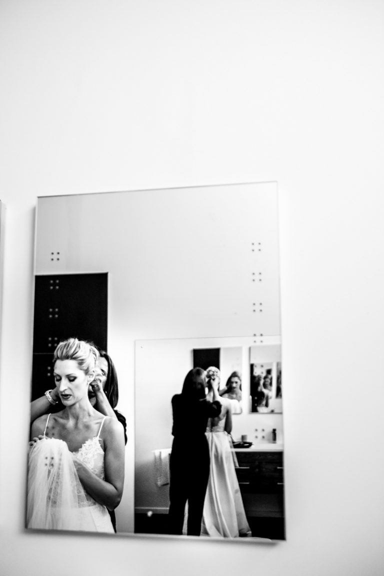 the bride preparing for her wedding day