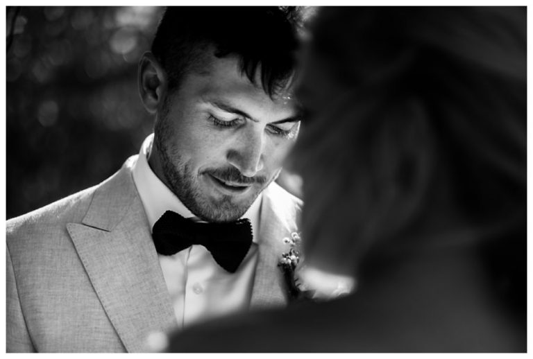 The groom gets emotional at a Wedding at Twelve Apostles hotel