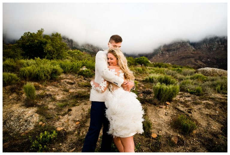 Twelve Apostles Hotel Wedding photos on the misty mountains