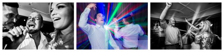 fun dance floor photos with lasers