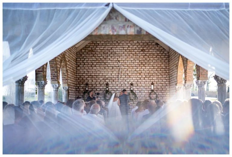 a creative shot of the wedding ceremony