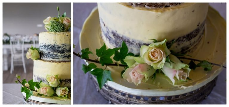 the classical white frosted wedding cake