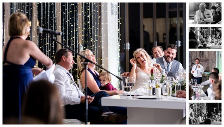 a comical moment during the wedding speeches