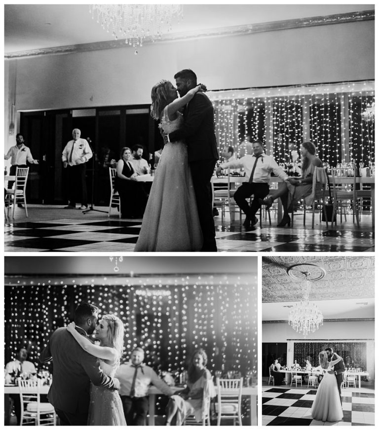 first dance moments between the newlyweds