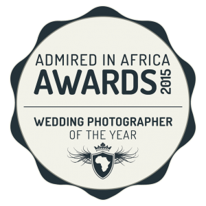 Wedding photographer of the year by Admired in Africa