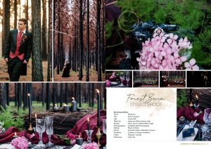 burned forest styled shoot in garden route weddings magazine